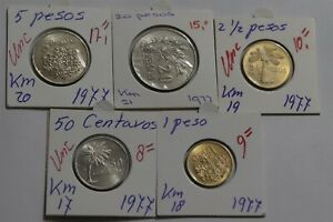 GUINEA BISSAU - 1977 5 COINS EARLY INDEPENDENCE COLLECTION HIGH GRADE B38 C3