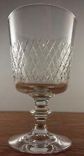 "Signed Kosta-Boda Crystal Diamond Cut Bowl #1195 Wine Glass(es) 5 3/8"""