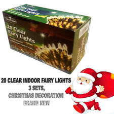 20 Clear Indoor Fairy Lights - **Christmas With Style**