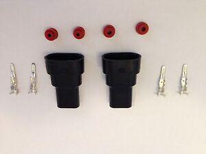 2 x 9006 / HB4  Male connectors  HID plug socket new