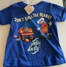 Baby Jelly Belly Don't Spill The Beans Blue Tee Shirt  Size 18 Months