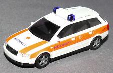 Busch 1/87 HO Scale Audi A4 Notarzt Ambulance Doctor Model Car