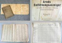 Arnds Entfernungsanzeiger Ermittlung zwischen deutschen Eisenbahnstationen 1930