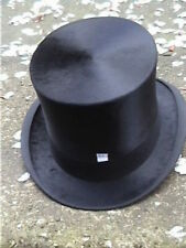 Large James Bogie Kirkcaldy Black Silk. Top Hat size 7 1/8..