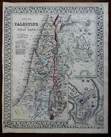 Holy Land Palestine Israel Jerusalem City Plan Dead Sea 1872 Mitchell map
