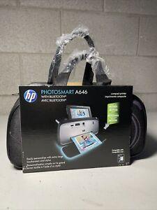 HP Photosmart Digital Photo Inkjet Compact Printer Silver / Black A646 NEW