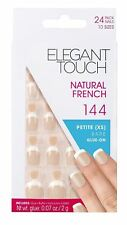 Elegant Touch Natural French False Nails 144 Petite 24 Nails in 10 Sizes