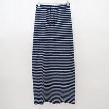 Splendid Maxi Skirt Long Womens S Small Striped Navy Blue White Side Slit