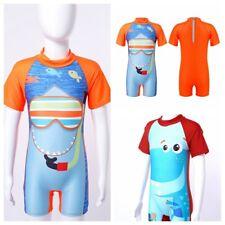 Kids Children Bathing Suit One-piece Cartoon Dinosaur Shark Print Beach Swimsuit