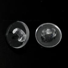 Button Blank Shanks, 100 Blank Clear Acrylic Flatback Cabochon 10mm DIY