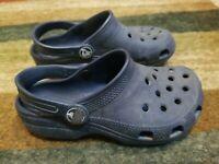 Iconic Crocs Comfort  Shoes Boys Girls Navy Blue Size C 13
