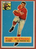 1956 Topps #50 Hugh McElhenny EX-EXMINT San Francisco 49ers FREE SHIPPING