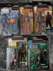 Star Wars Black Series   Mandalorian Credit Collection Full Set of 5   Cara Dune