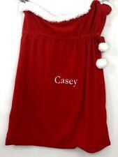 """Pottery Barn Kids Casey Name Santa Bag Sack Christmas Gift Bag Large 45"""" X 33"""""""