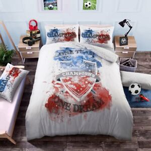 One Team One Dream Double Polycotton Duvet Cover with Pillow Cases Bedding Set