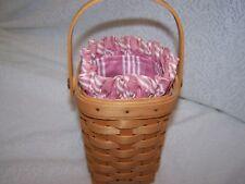 Longaberger Dusty Pink Stripe Liner Only for 98 Hoh Horizon Of Hope Basket Nib