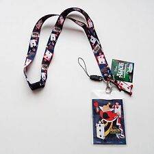 Alice in Wonderland - Queen of Hearts Card Soldiers Lanyard with Dangler 25321