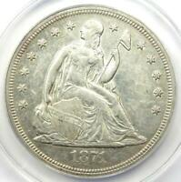 1871 Seated Liberty Silver Dollar $1 - ANACS AU50 Details - Rare Early Coin!