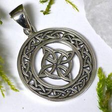 Keltischer 4 Elemente Schmuckanhänger 925 Silber Vier Elemente Verbundenheit