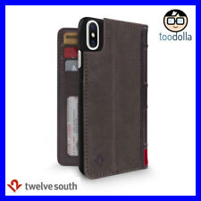TWELVE SOUTH BookBook Vintage Style Wallet Leather Case for iPhone X / XS, Brown