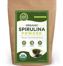 Soul Organic Spirulina Powder-Purest Source& Max Nutrient Density, Vegan Protein