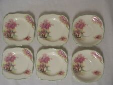 J & G MEAKIN ENGLAND VINTAGE 'LILAC TIME' SMALL PLATE x 4 & 2 x Saucers c 1920s