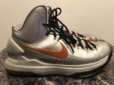 9ebfc753262 Nike KD 5 Texas Longhorns Basketball Shoes 🏀554988-002 Slvr Burnt Orange Sz