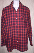 Vintage Plaid Timber Ridge long sleeve button front shirt size adult L, spots