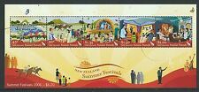 NEW ZEALAND 2006 SUMMER FESTIVALS MINIATURE SHEET FINE USED