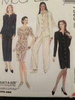 McCalls Sewing Pattern 7305 Ladies Misses Jacket Skirt Dress Pants Size 8-12 UC