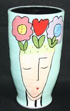 "SANDRA MAGSAMEN 10.5"" TALL VASE People are Like Gardens They Blossom When Loved"