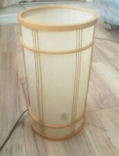 """Bamboo And Rice Paper Cylinder Lamp 14"""" Tall. Toggle Switch 7 3/4"""" in Diameter"""