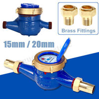 15/20mm Garden Home Iron Brass Flow Measure Tape Cold Water Meter Counter Tools