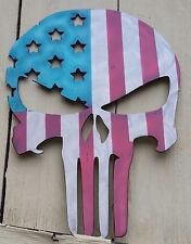 Punisher American Flag Sign.Hi Gloss.No Rust Metal Custom Signs.Patriotic Usa