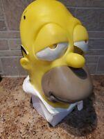 VTG 1999 The Simpson Homer Simpson Rubber Mask Matt Groening FOX 90s Halloween