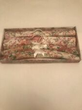 Drawer Draw Liner And Padded Hanger Set Flower Pink
