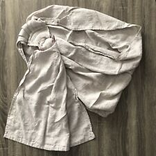 Bibetts Pure Linen Pleated Ring Sling Baby Carrier Size Medium