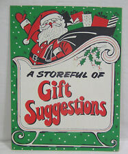 Vtg Christmas Store Sign Advertisement Santa Claus and Sleigh Circa 1960s