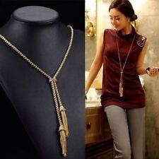 Rhinestone Alloy Stone Chain Costume Necklaces & Pendants