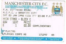 Ticket - Manchester City v Burnley 03.10.98