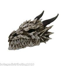Smoking Statue Dragon Skull Head Incense Burner Ram Horn Fossil Figurine