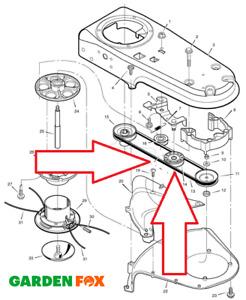Genuine Murray TM6000 Power Trim Wheeled Strimmer BELT 711933MA