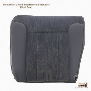 1994 -1997 Dodge Ram 1500 2500 3500 SLT Driver Bottom Cloth Cover Gray Piping