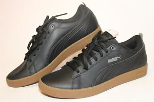 Puma NEW 365208-13 Smash V2 Lace Up Womens 7 37.5 Black Low Top Sneakers Shoes