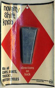 Vtg Shift Knob Gear Shifter NOS Hot Rod Custom Retro 50's 60's Black