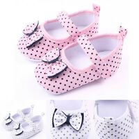 Infant Newborn Baby Girls Boys Shoes First Walkers Shoes Bow Princess Crib Shoes
