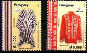 PARAGUAY 2003 ART,HANDCRAFTS MERCOSUR MNH MI 4914-5 YV 2883-4