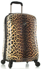"Heys America Luggage Leopard Panthera 21"" Expandable Carry On Spinner Suitcase"