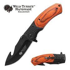 WILD TURKEY HANDMADE Heavy Duty Handle Spring Assisted Folding Pocket Knife