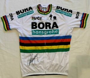 Peter Sagan signed 2018 World Championship Bora-Hansgrohe cycling jersey PROOF